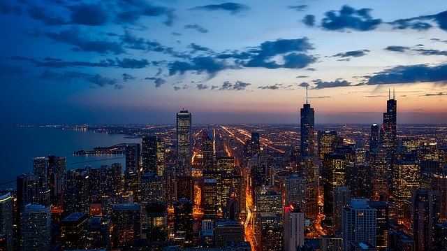 Чикаго гледка