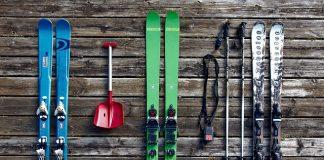 употребявани ски за декорация